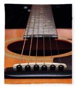 Guitar 12 Fleece Blanket