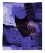 Guitar Art 001a Fleece Blanket