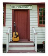 Guitar At Cold Spring Chronicle Fleece Blanket