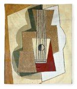 Guitar, By Pablo Picasso, 1919, Kroller-muller Museum, Hoge Velu Fleece Blanket
