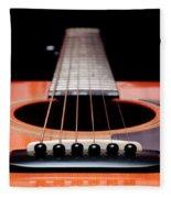 Guitar Orange 19 Fleece Blanket