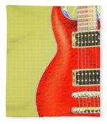 Guitar Pic Fleece Blanket