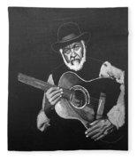 Guitar Player Fleece Blanket