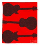 Guitar Silhouette Background Fleece Blanket