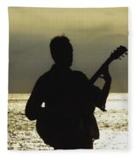 Guitar Silhouette Fleece Blanket
