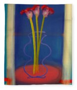 Guitar Vase Fleece Blanket