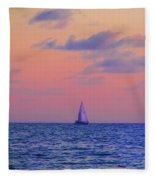 Gulf Coast Sailboat Fleece Blanket