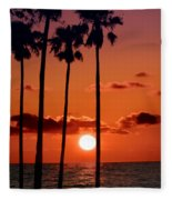 Gulf Coast Sunset Fleece Blanket