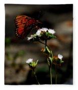 Gulf Fritillary Butterfly Too Fleece Blanket