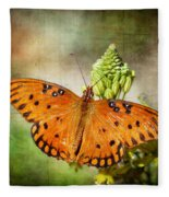 Gulf Fritillary Fleece Blanket