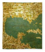 Gulf Of Mexico, States Of Central America, Cuba And Southern United States Fleece Blanket