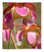 Gulf Purple Pitcher Plant Fleece Blanket