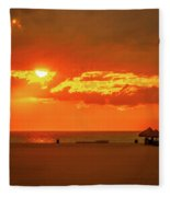 Gulf Sunset Fleece Blanket