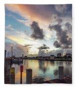 Gulfport Harbor Colors Fleece Blanket
