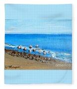 Gulls At Play Fleece Blanket