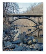 Gunpowder Falls St Pk Bridge - Pano Fleece Blanket