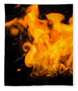 Gunpowder Flames Fleece Blanket