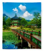 Gyeongbokgung Palace Fleece Blanket