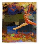 Gymnast Girl Fleece Blanket