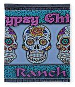 Gypsy Chix Ranch Fleece Blanket