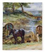 Gypsy Encampment Fleece Blanket