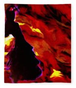 Gypsy Flame Fleece Blanket