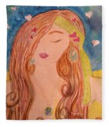 Gypsy Girl 2 Love To The World Fleece Blanket