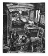 Gypsy Wagon, 1879 Fleece Blanket