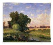 Hackensack Meadows - Sunset Fleece Blanket