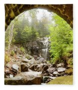 Hadlock Falls Under Carriage Road Arch Fleece Blanket