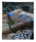 Hafted Hawaiian Adze Wailea Maui Hawaii Fleece Blanket