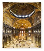 Hagia Sophia Interior Fleece Blanket