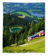 Hahnenkamm - Kitzbuehel Fleece Blanket