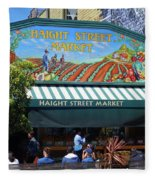 Haight Steet Market San Francisco Fleece Blanket