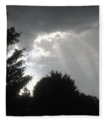 Hail Storm Clouds Fleece Blanket