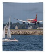 Hainan Airlines 787 Dreamliner Landing At Logan Fleece Blanket