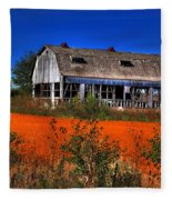 Hainesville Barn Color Fleece Blanket
