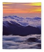 Maui Hawaii Haleakala National Park Golden Dawn Fleece Blanket