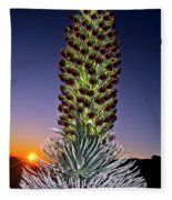 Haleakala National Park Silversword Sunrise Maui Hawaii Fleece Blanket