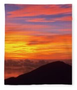 Haleakala Sunrise Colors IIi Fleece Blanket