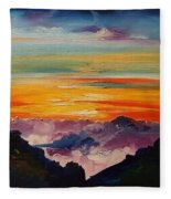 Haleakala Volcano Sunrise In Maui      101 Fleece Blanket