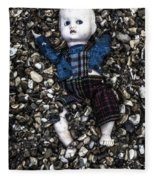 Half Buried Doll Fleece Blanket