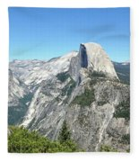Half Dome From Inspiration Point Fleece Blanket
