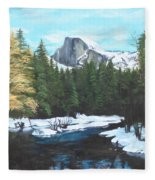 Half Dome Snow Fleece Blanket