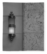 Half Lit Wall Sconce Fleece Blanket