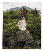Halibut Cove Lighthouse Fleece Blanket
