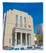 Hall Of Justice In Valparaiso-chile  Fleece Blanket