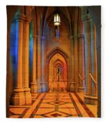 Hall Of The Cathedral Fleece Blanket