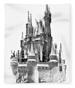 Hall Of The Snow King Monochrome Fleece Blanket