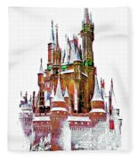 Hall Of The Snow King  Fleece Blanket